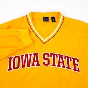 VTG Iowa State Cyclones Pullover Windbreaker Jacket MD Medium NCAA Football